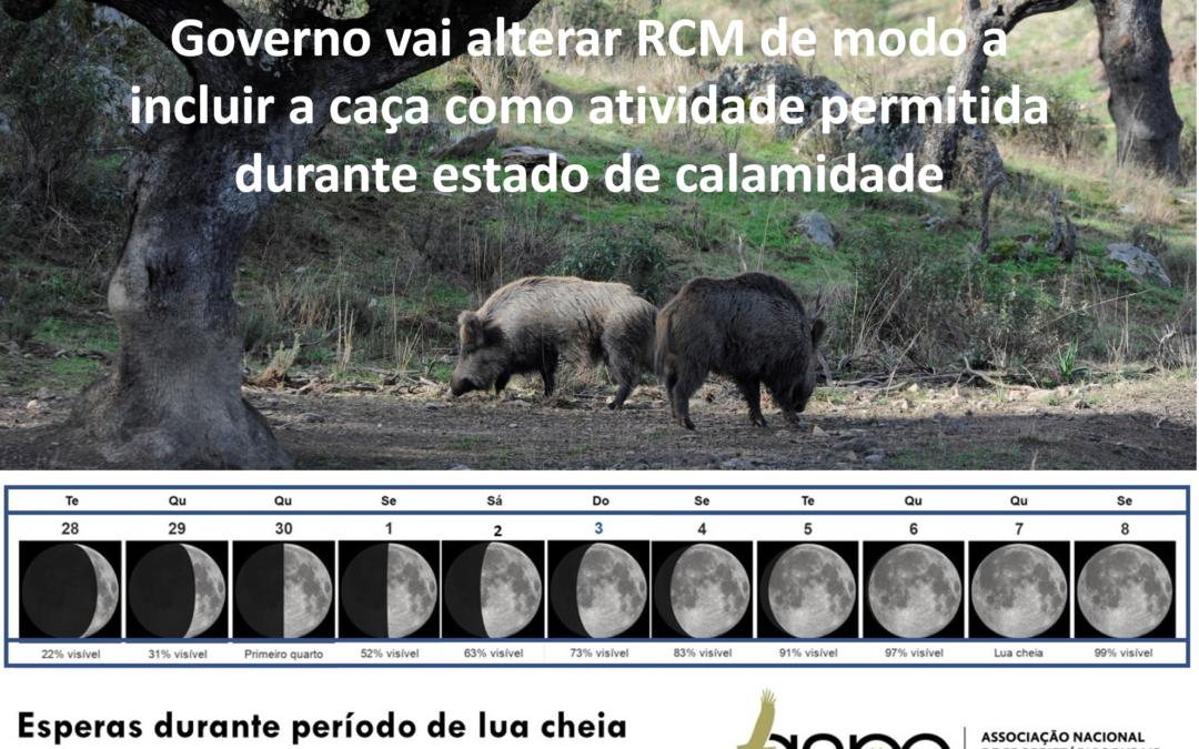 Alteração à RCM que determina estado de calamidade, irá permitir a caça